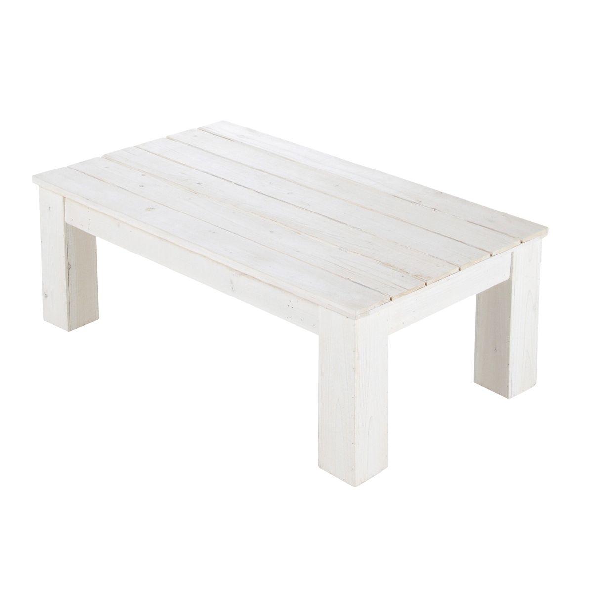 Table basse petite taille table de salon moderne blanc | Objets ...