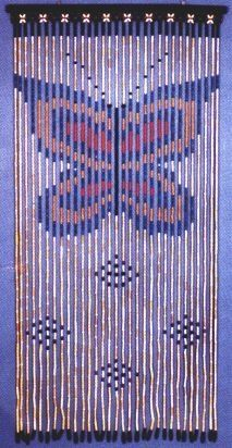 Wooden Beaded Door Curtain ~ Butterfly ~ Hand Painted ~ Fits ...