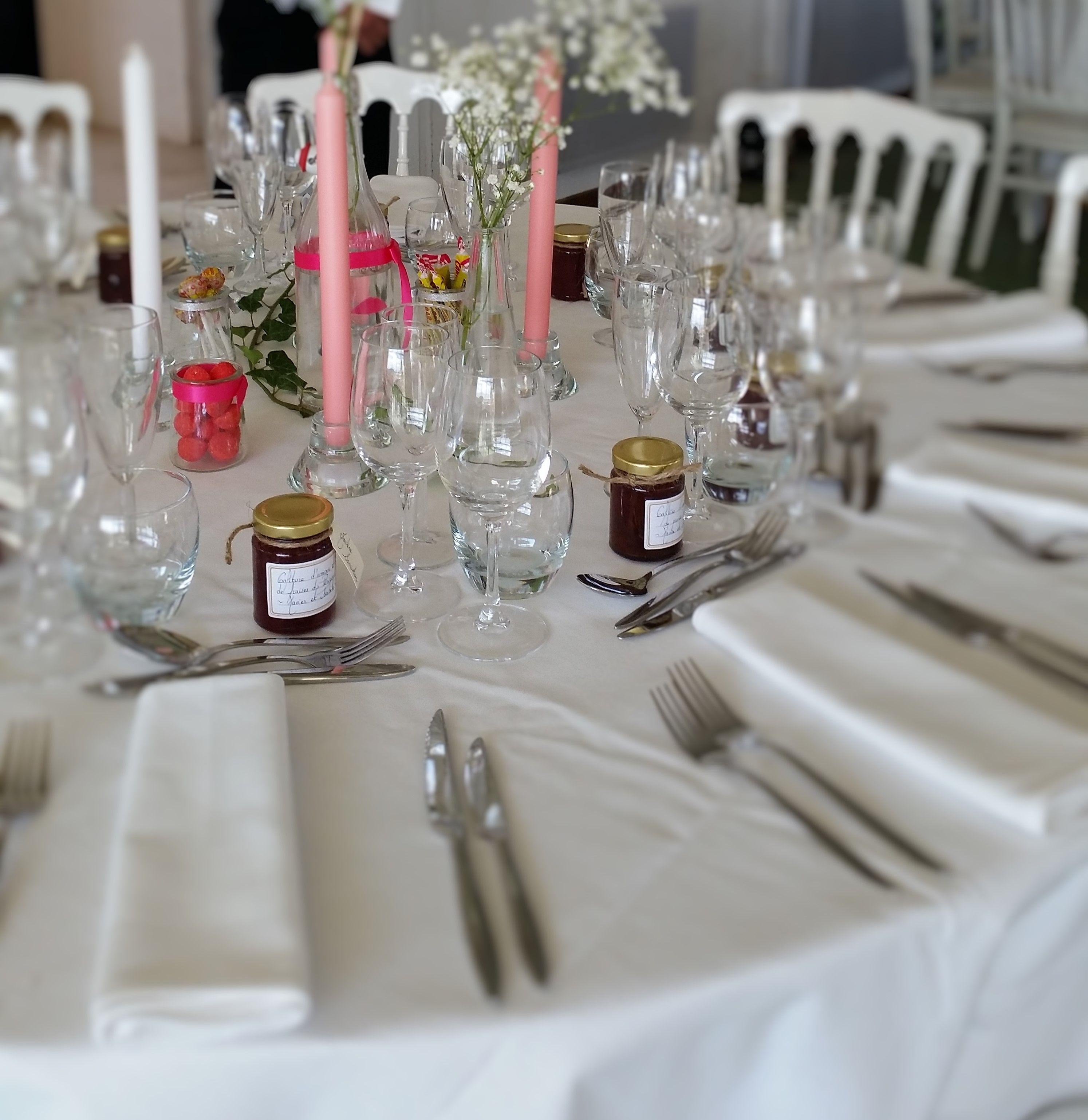 Mariage aux Jardins d Eyrignac idée décoration de table