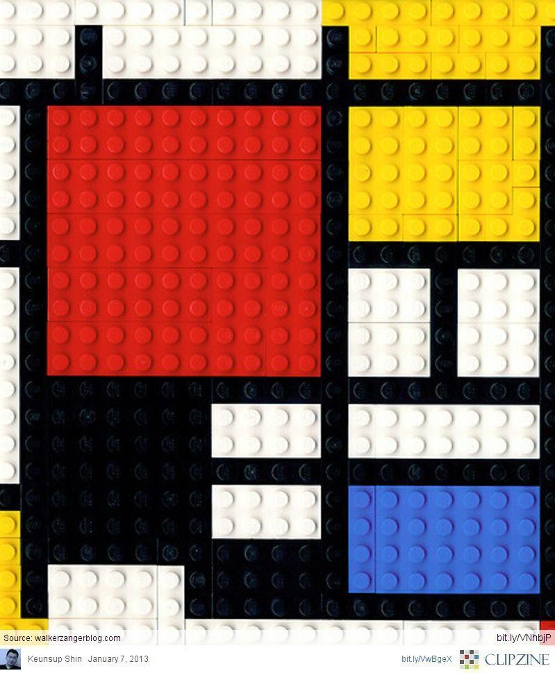 Lego Mondrian via Keunsup Shin. Source: walkerzangerblog.com