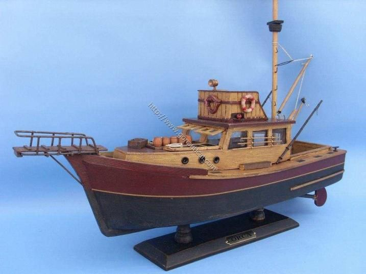 Jaws orca boat model replica boating models and scale for Model fishing boats