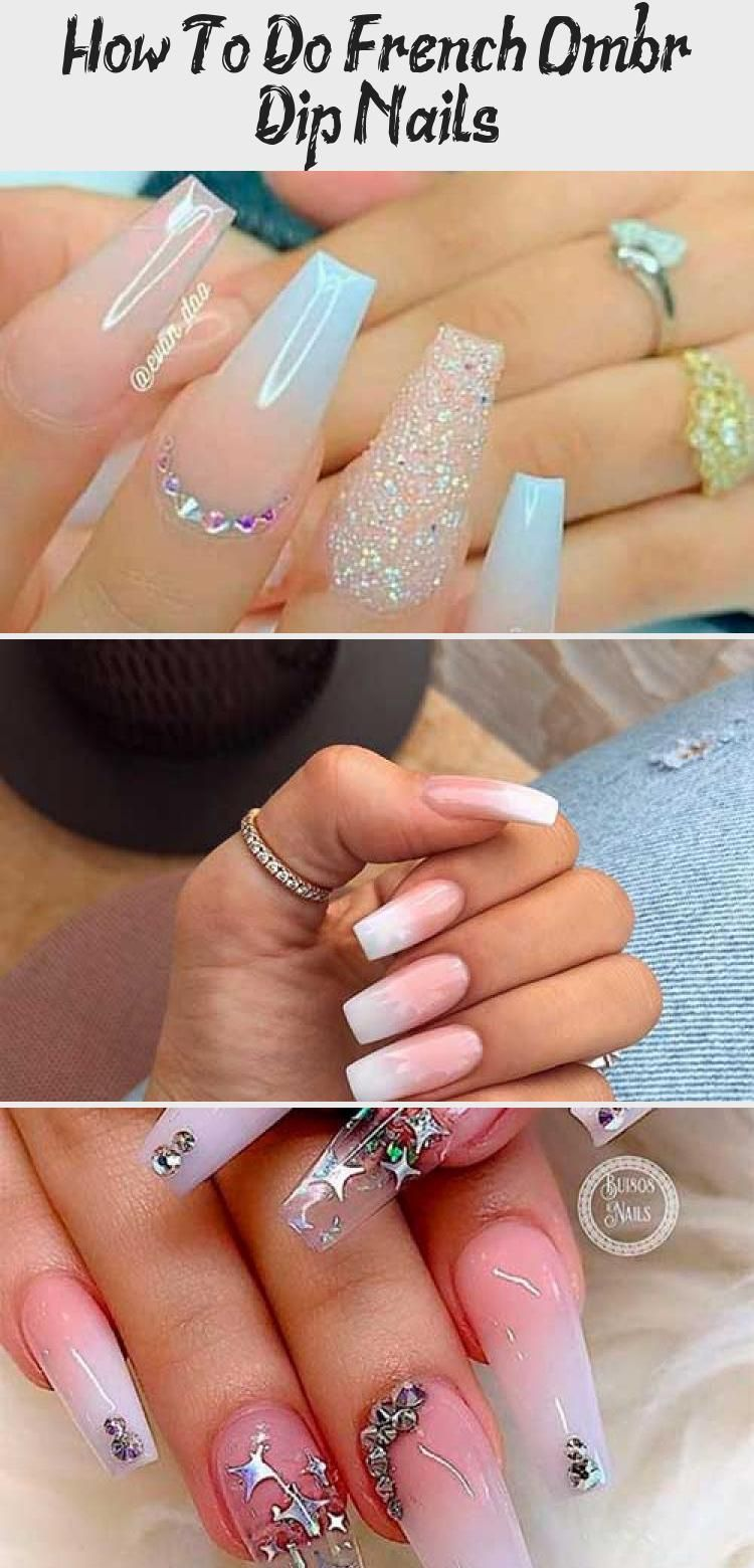 How to Do French Ombre Dip Nails ombrenails dipnails