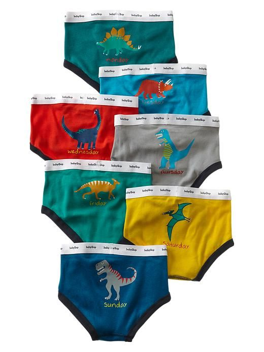 436c983a0f01 Gap | Dinosaur days-of-the-week underwear (7-pack) | For my Wesley ...