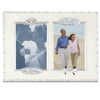 Lawrence Frames 50th Anniversary Double Opening Picture Frame Size: Double