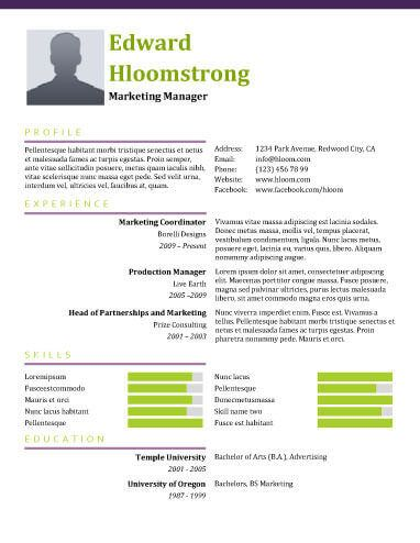 Combination Resume by Hloom cv Pinterest Resume templates