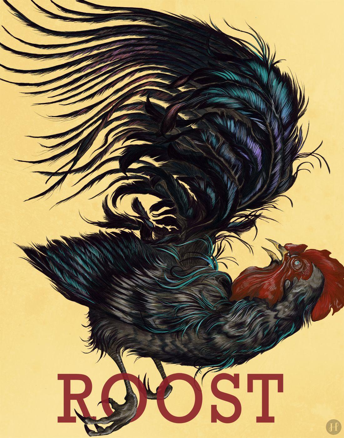 Year of the Rooster illustration by Derik Hobbs. www.instagram.com/deriknhobbs