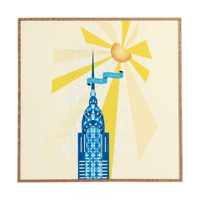 East Urban Home New York City Chrysler Building by Jennifer Hill Framed Graphic Art
