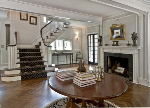 Entry Foyer Runner : A new and fresh entry way for the grand historic estate in