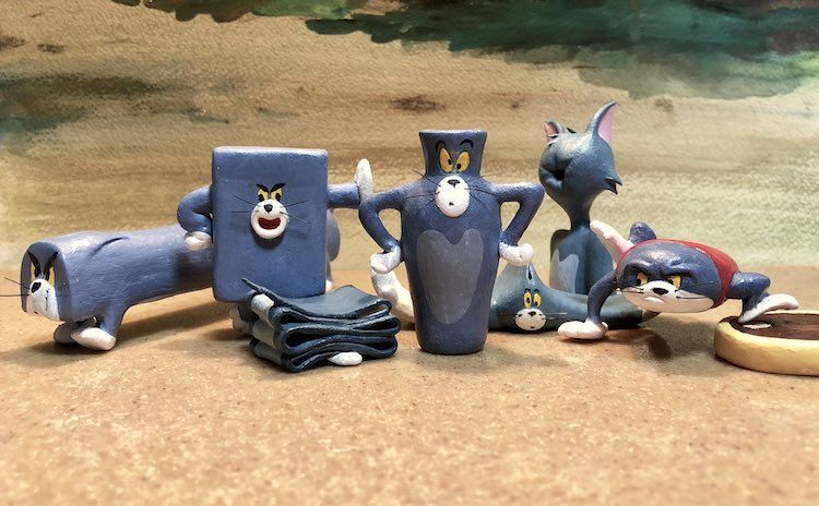 Hilarious Sculptures of Tom Cat From 'Tom and Jerry' in