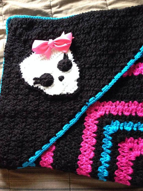 Skull Crochet Blanket Baby Blanket With Hood Monster High
