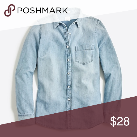 352151f4 J. Crew Perfect Fit Pocket Chambray Shirt S J. Crew Factory Perfect Fit  Pocket Chambray Shirt S Fabric Content: 100% Cotton. approx.