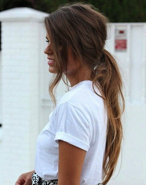Messy Chic Hairstyles From Pinterest Women Hairstyles Hair Styles Hair Beauty Long Hair Styles