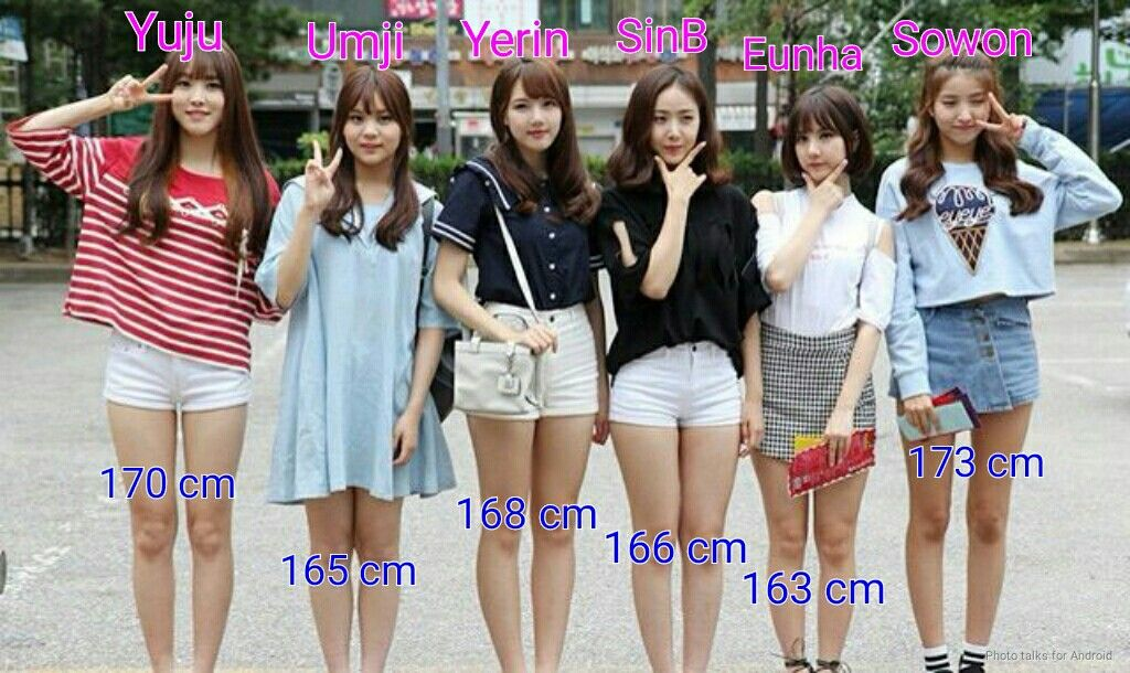 gfriend 39 s members height in cm and feet sowon group leader is 173 cm 5 67 ft yuju. Black Bedroom Furniture Sets. Home Design Ideas