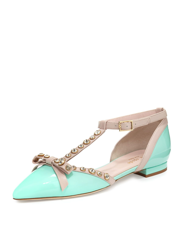 0ebdff4d4c42 becca jeweled t-strap ballerina flat