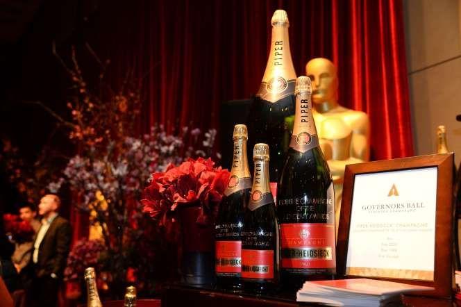 OSCAR 2015 - CENA - CHAMPAGNE PIPER-HEIDSIECK PRESTIGE CUVÉE RARE - Champagne - ROBYN BECK/AFP/Getty Images