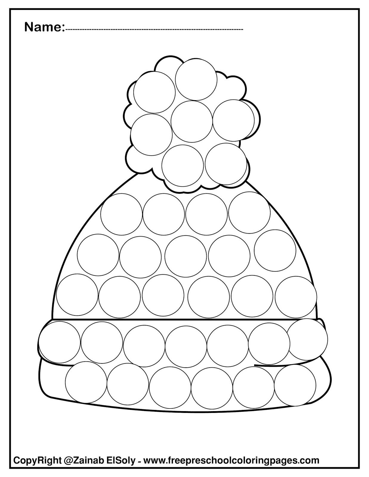 Set Of Winter Dot Marker Free Pages For Kids Dot Marker Activities Dot Markers Winter Crafts Preschool
