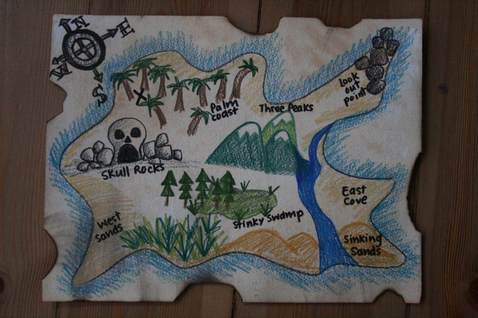 Diy Pirate Map And Treasure Hunt Games