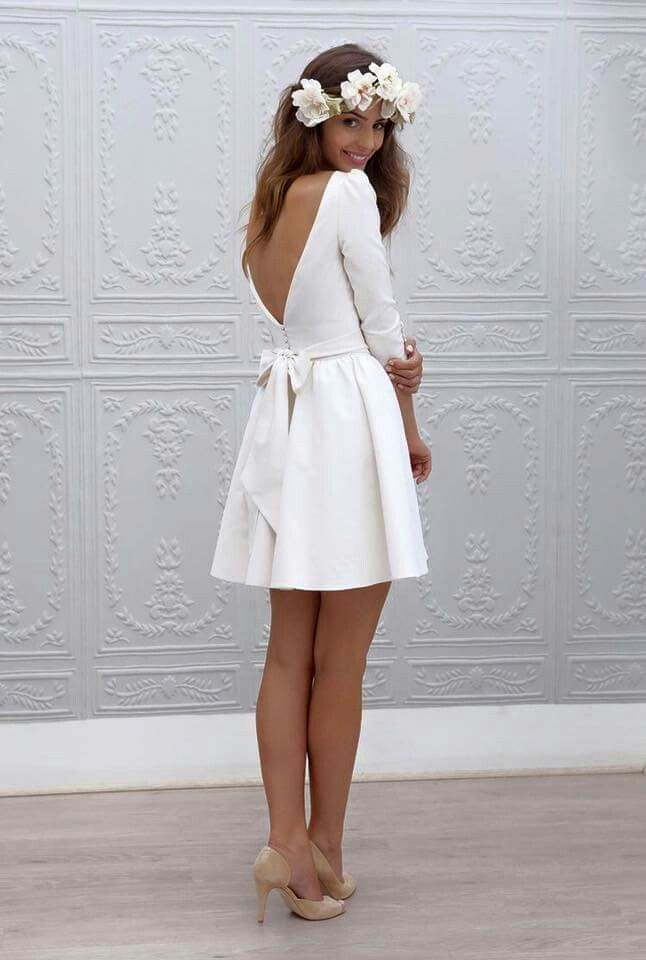 Short White Shower Dress