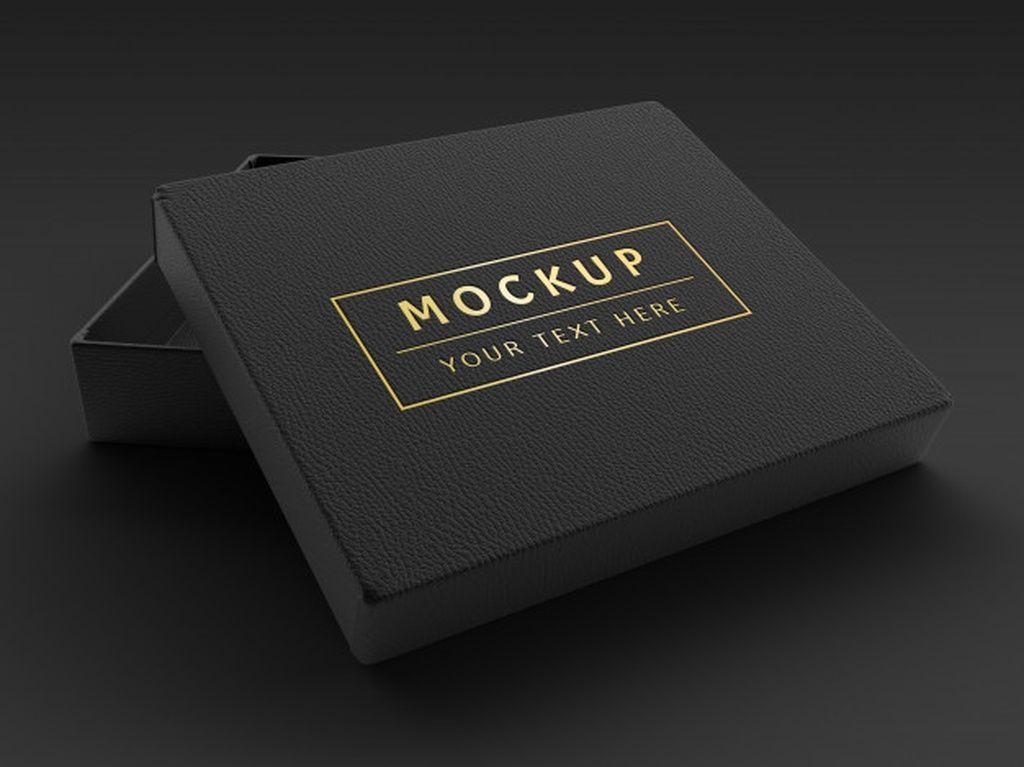 Download 3d Rendering Luxury Black Leather Box Mockup Paid Ad Sponsored Black Mockup Box Luxury Luxury Box Design Leather Box Box Mockup