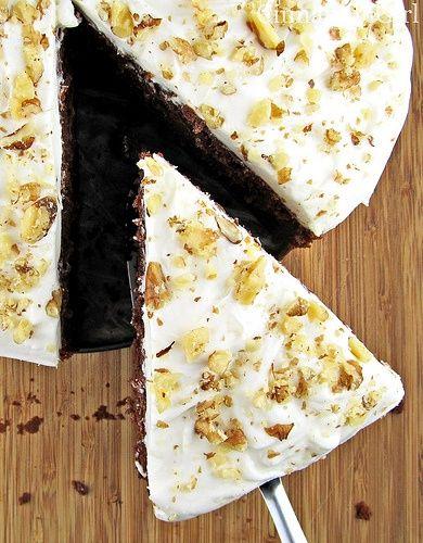 Chocolate Zucchini Cake With Sour Cream Frosting Recipe Sour Cream Cake Chocolate Zucchini Cake Sour Cream Chocolate Cake