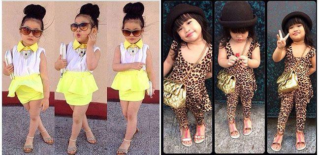 Ropa y vestidos para niñas fashion , Niñas con un Toke Femenino