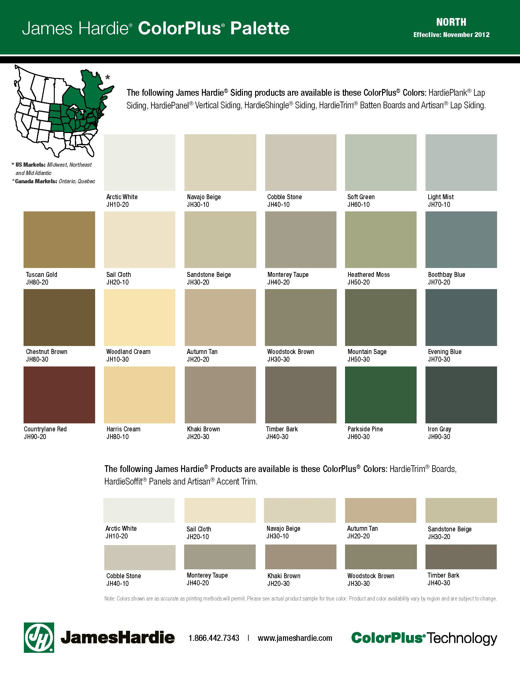 House colors on pinterest paint colors craftsman and james hardie - Hardie Color Palette Most Colours Available Contact Local Branch For Availability Gentek Bldg Supplies