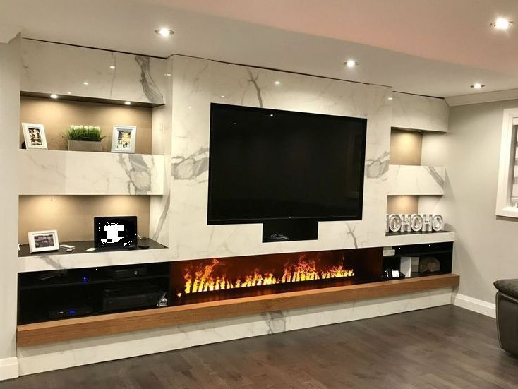 11 Best Tv Wall Designs Ideas On Your Budget In 2020 Living Room With Fireplace Living Room Tv Wall Living Room Tv