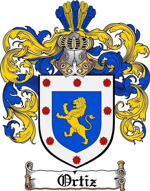 Ortiz Family Crest Puerto Rico