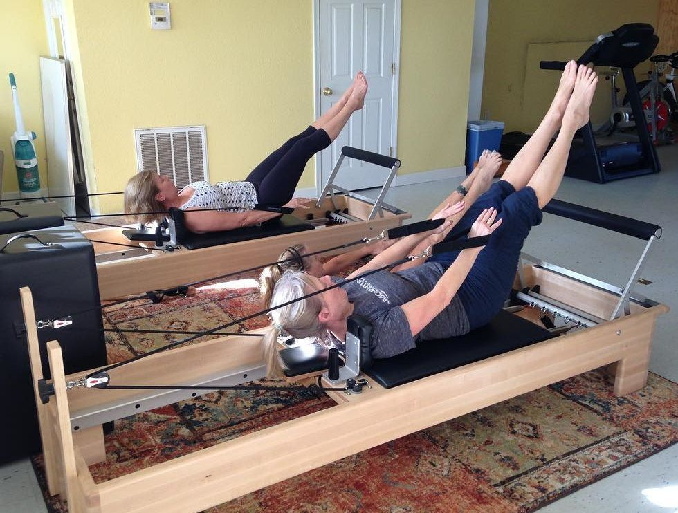 Great workout on the OuterBanks PilatesReformer