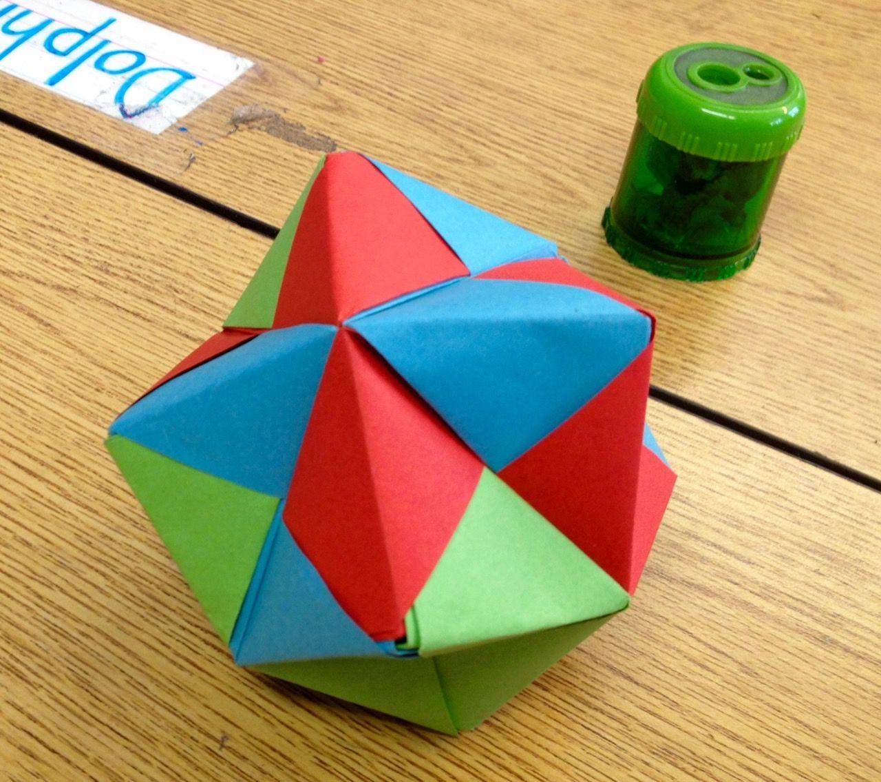 Teaching Math With Modular Origami Scholastic Com Origami And Math Origami Geometric Shapes Geometric Origami