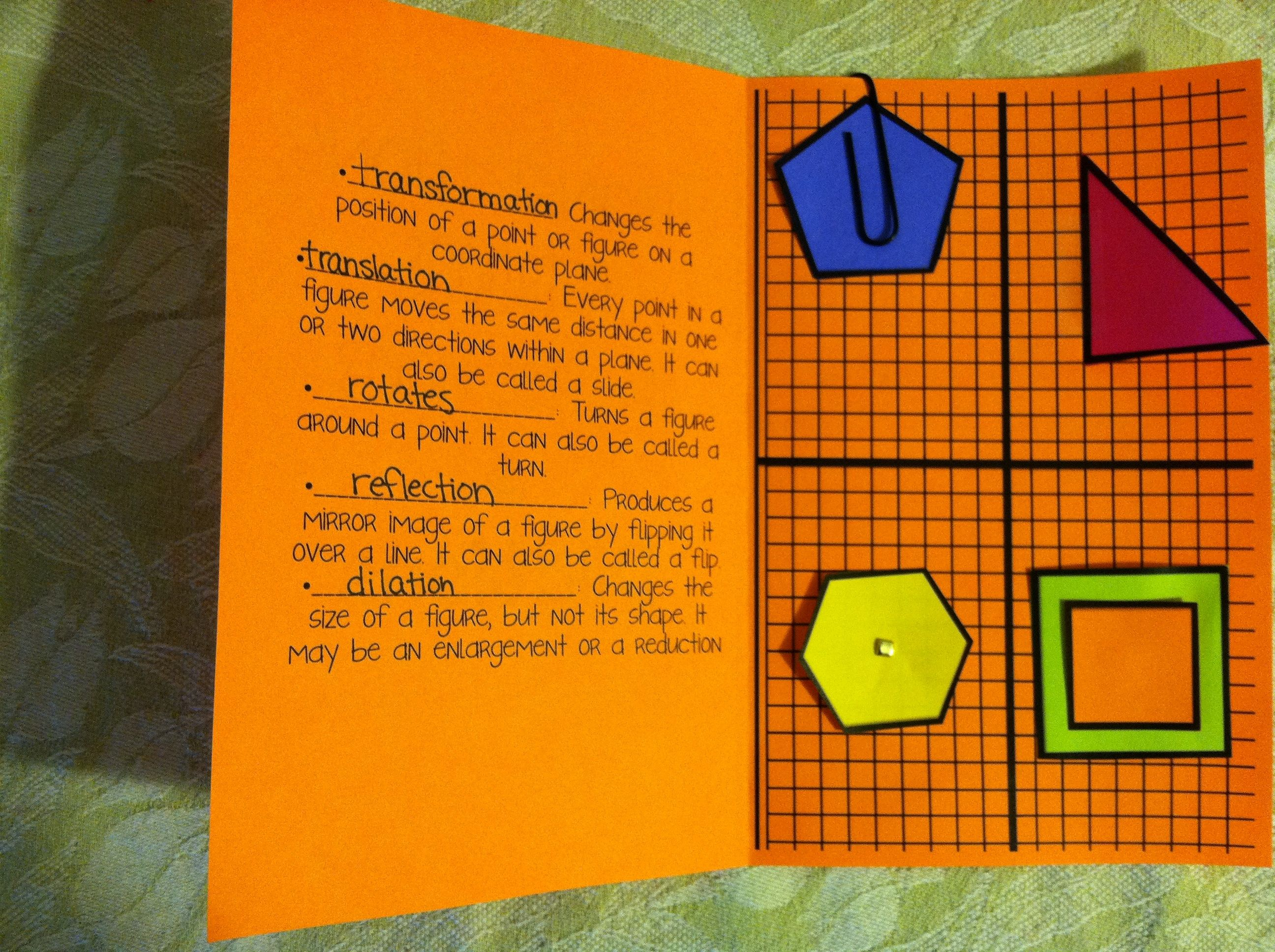 Stained Glass Transformations Worksheet Answer Key