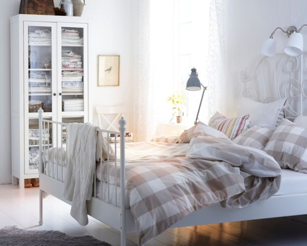 Leirvik Bed Frame White Queen Ikea In 2020 Leirvik Bed Bed Frame Comfort Mattress