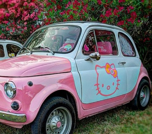 Hello Kitty car let's have Fun with our car's come on people life is too short Good Clean fun is what we need it's pleasing unto the Lord to be child like :)