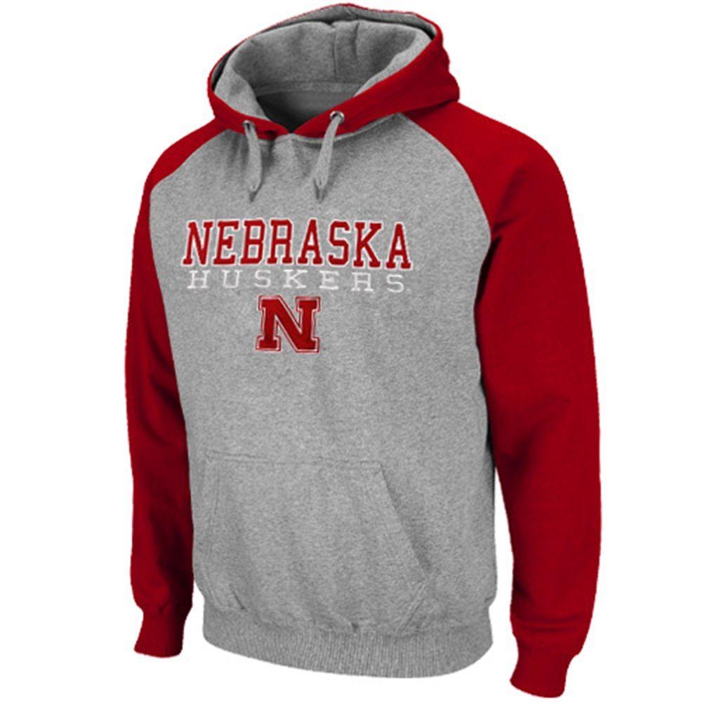 Nebraska Cornhuskers Ash Scarlet Atlas Pullover Hoodie Sweatshirt Sweatshirts Hoodie Mississippi State Bulldogs Mens Sweatshirts [ 1000 x 1000 Pixel ]