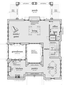 Interesting House Plan Buscar Con Google Castle House Plans Unique House Plans Courtyard House Plans