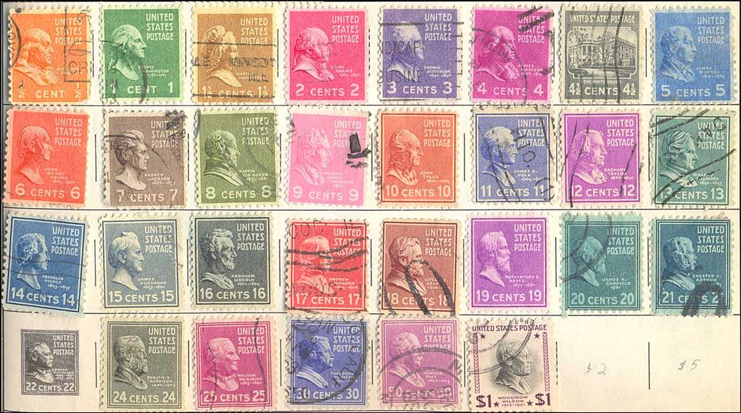 POSTCARDY: the postcard explorer: Some U.S. Definitive Postage Stamps