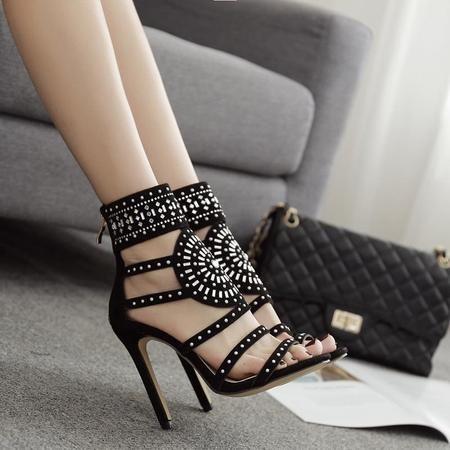 76040e60fb9d9 Vente de Sandales femme Gladiateur   Chaussures de soirée ouvertes talons  haut sexy