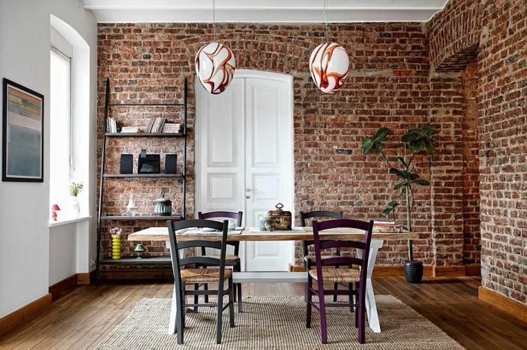 Déco salle à manger avec mur brique  50 idées originales Exposed