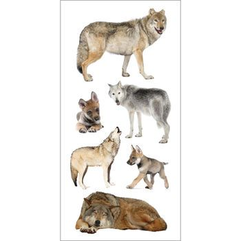 Wolves paper House Stickers Arts and crafts supplies