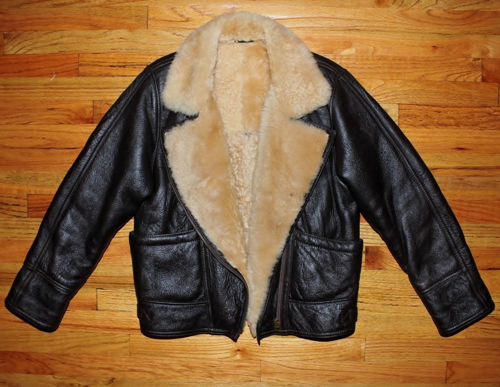 Sheepskin jacket womens ebay
