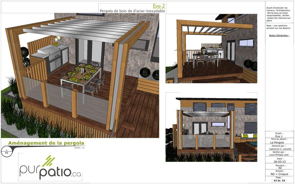 le Concept de Patio Pur-Évo est un plan de patio moderne d\u0027une