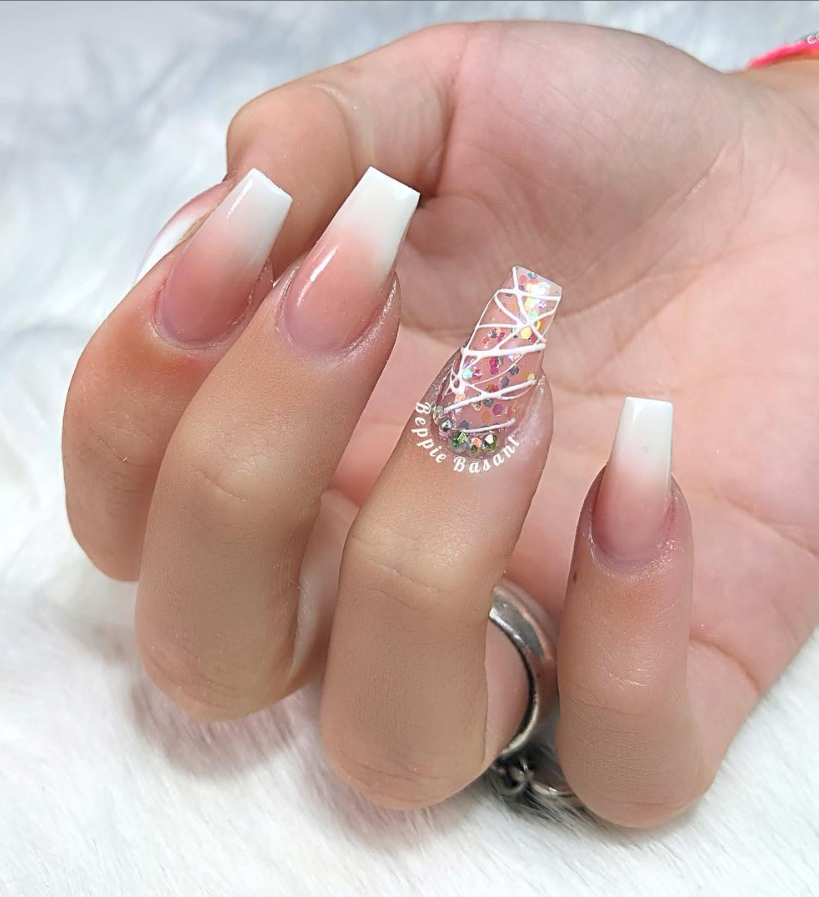 53 Chic Natural Gel Nails Design Ideas For Coffin Nails Gel Nail Designs Natural Gel Nails Classy Gel Nails