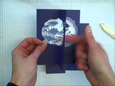 Learn how to make a fun fold card with any shape framelit die and your Big Shot! Find more card making ideas at http://www.inkitupwithjessica.com