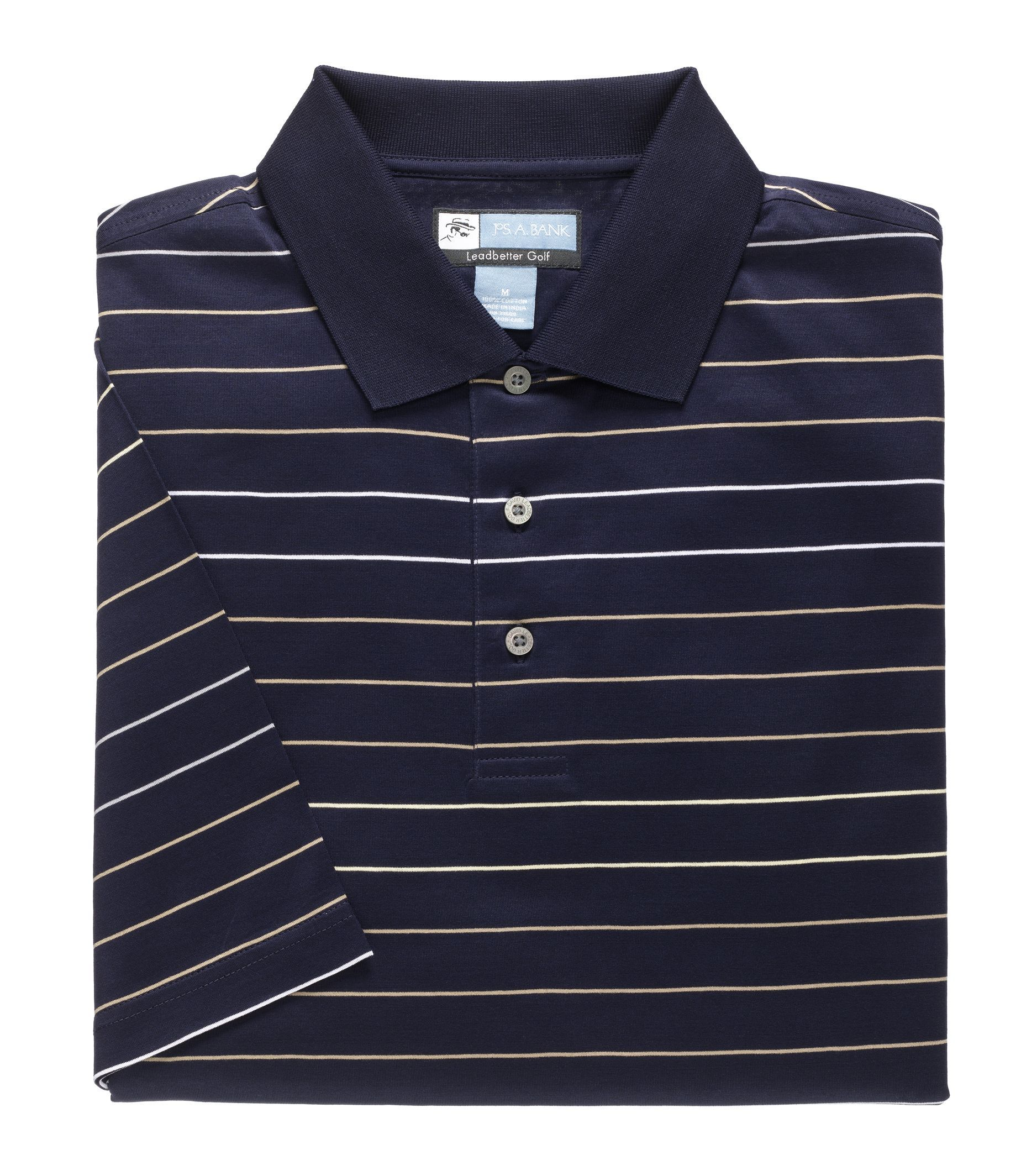 David Leadbetter Stays Cool Wide Multi Stripe Polo CLEARANCE