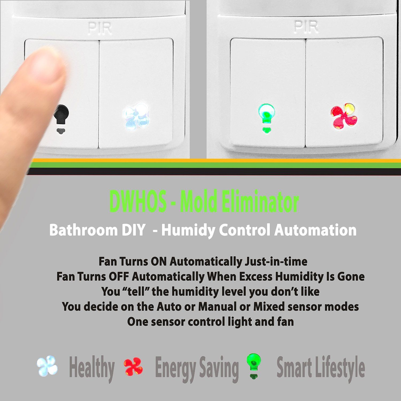 Bathroom Light Goes Off And On enerlites dwhos-w humidity/motion sensor switch for bathroom fan