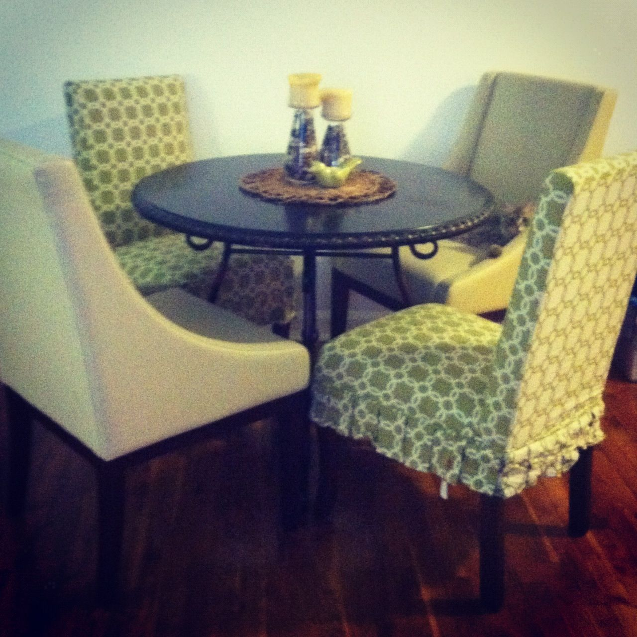 Superior Pier 1 Ashmont Dining Table And Dana Parsons Chairs With Slip Covers  @pier1imports
