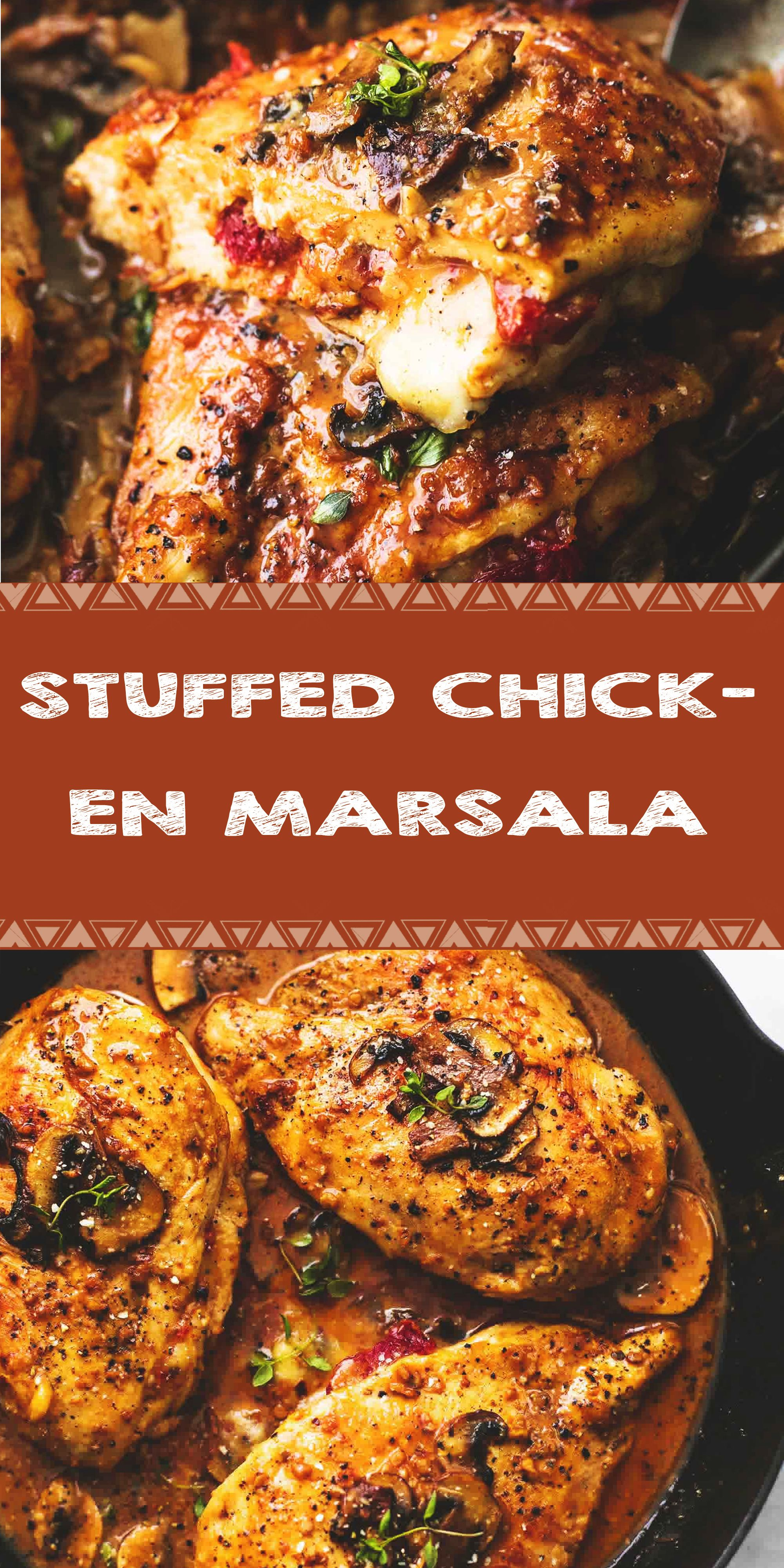 Stuffed Chicken Marsala In 2020 Best Chicken Recipes Chicken Recipes Recipes