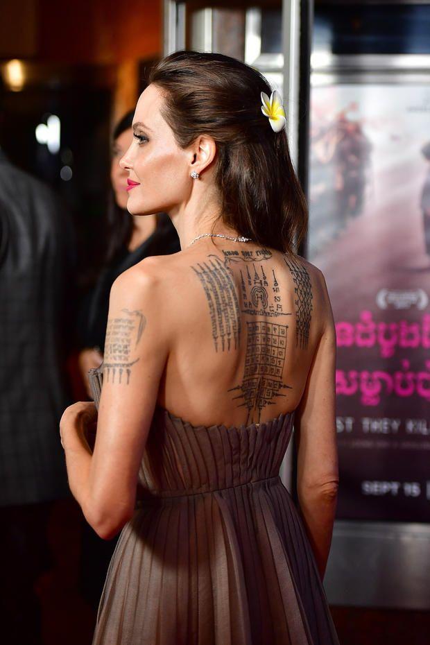 Angelina Jolie Zeigt Ihr Mega Ruckentattoo Angelina Jolie