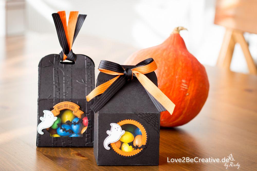 """Halloween 2016 Goodie Verpackung mit dem Stampin' Up Bundle """"Ein Haus für alle Fälle"""".  Halloween 2016 treat box with Stampin' Up """"Sweet home"""" bundle.  love2becreative.de"""