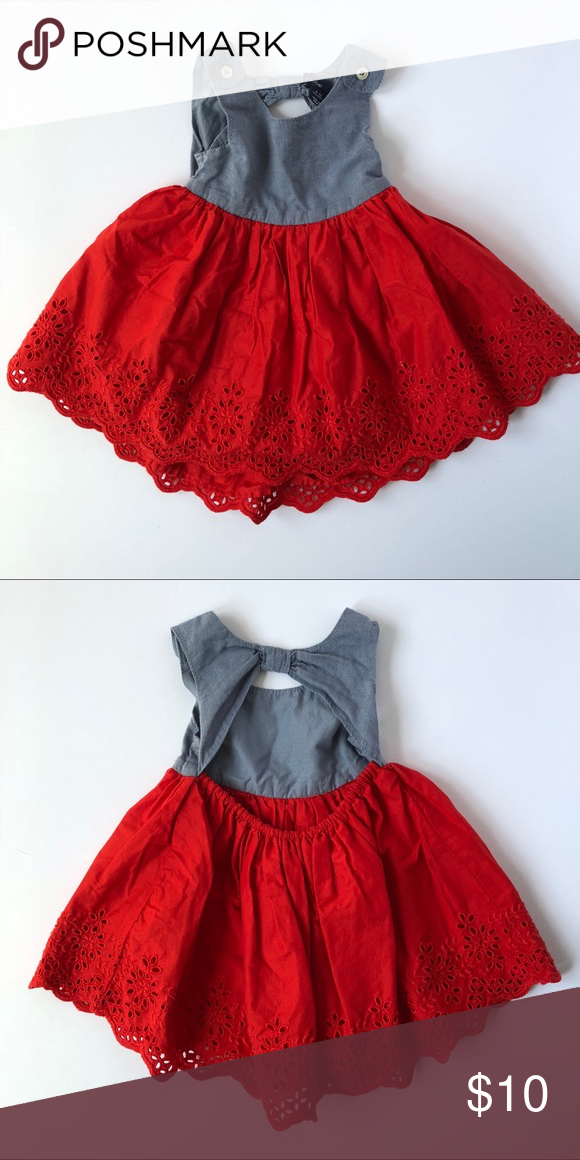 f825e994c4f 😍 Baby Gap Red Eyelet Summer Dress 6–12 month Love this dress ...